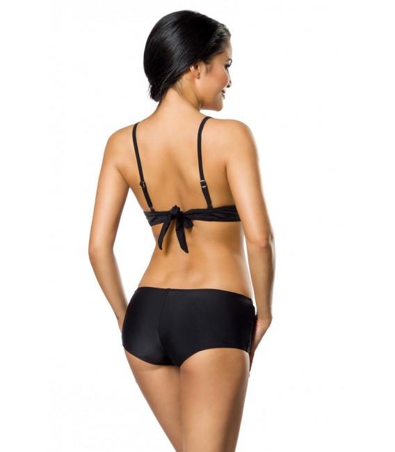 Push-Up-Bikini-Set in schwarz mit Höschen und Panty Bild 4
