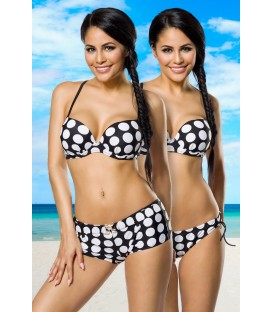 Push-Up-Bikini-Set schwarz/weiß - AT12029