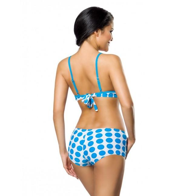 Push-Up-Bikini-Set in weiß/türkis