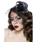 Rockabilly-Minihut / Fascinator leo - AT12096