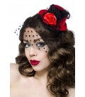 Rockabilly-Minihut / Fascinator rot - AT12096