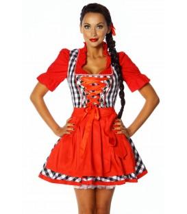Dirndl rot/weiß