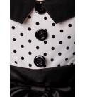 Rockabilly-Kleid weiß/schwarz - AT12119