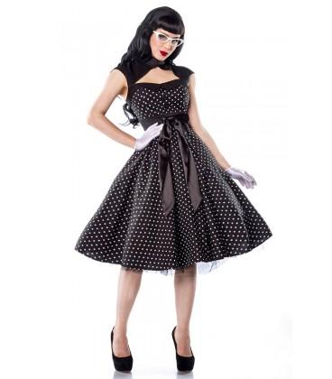 Rockabilly-Kleid schwarz/weiß - AT12119