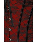 Spitzen-Corsage schwarz/rot - AT12120