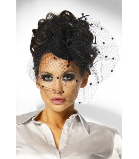 Minihut / Fascinator schwarz - AT12145
