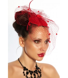 Minihut / Fascinator rot - AT12145