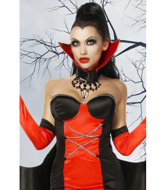 extravagantes Vampirkostüm mit Fledermausschwingen