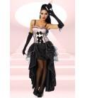 Cabarett-Kostüm rosa/schwarz - AT12153