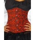 Taillen-Corsage rot/schwarz - AT12303
