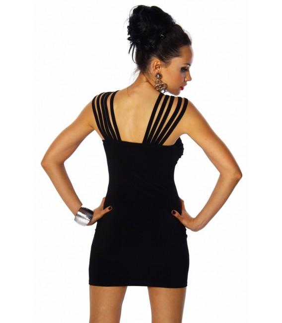 Hochwertiges langärmliges Minikleid schwarz