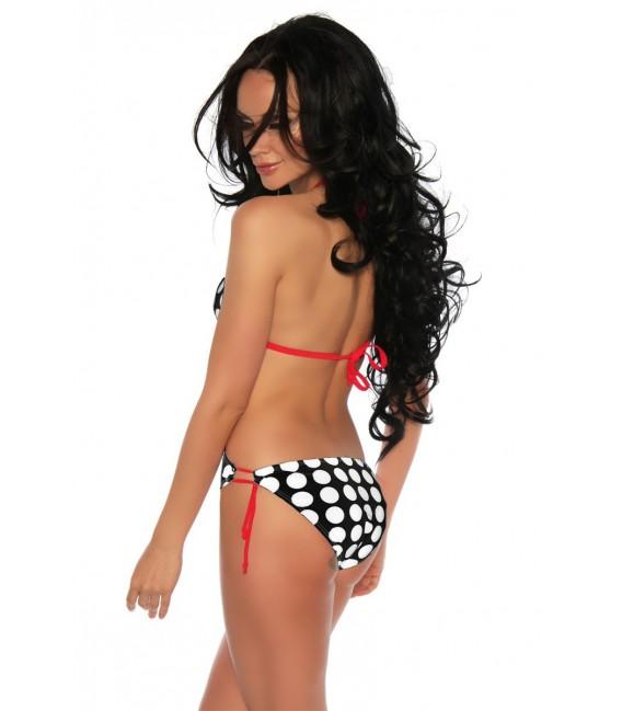 Monokini schwarz/weiß/rot - AT12556