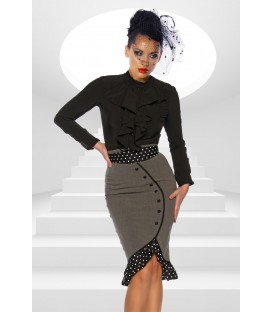 Pencil-Rock im Rockabilly-Stil in grau/schwarz/weiß
