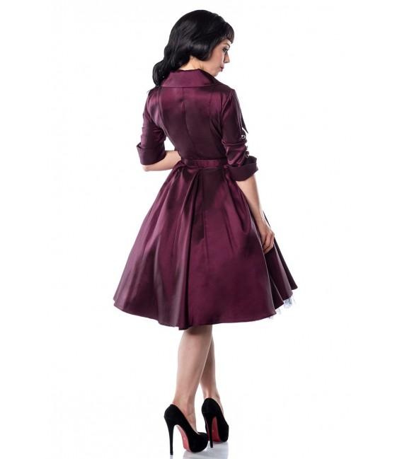 Hochwertiges Rockabilly-Kleid mit Gürtel und typischem Rockabilly-Kragen