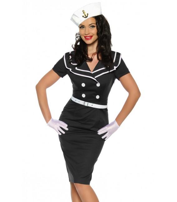 Sexy Pin-Up-Vintage-Kleid in schwarz/weiß mit einem typischem Matrosen-Kragen