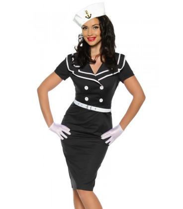 Pin-Up-Vintage-Kleid schwarz/weiß - AT12634