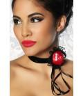 Halsband rot/schwarz - AT12639