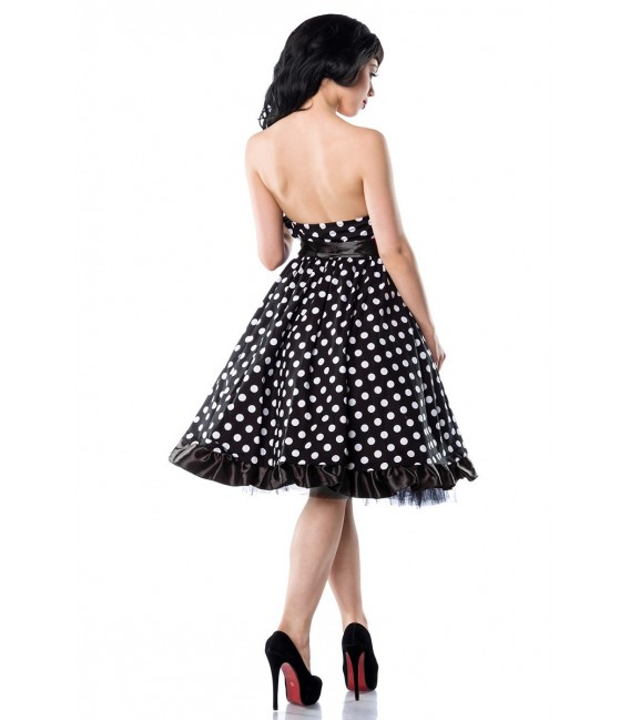 Rockabilly-Kleid schwarz/weiß - AT12655