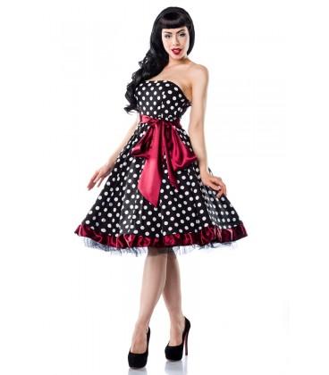 Rockabilly-Kleid schwarz/weiß/rot - AT12655