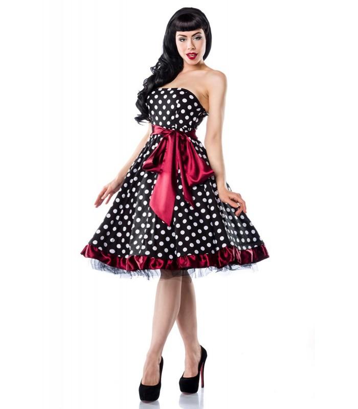 size 40 c918f b7ec2 Rockabilly-Kleid schwarz/weiß/rot - AT12655 - FashionMoon