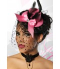 Burlesque-Minihut / Fascinator - AT12680