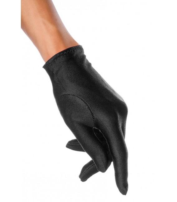 Satin-Handschuhe kurz schwarz - AT12714