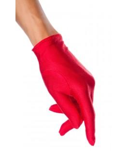 Satin-Handschuhe kurz rot - AT12714