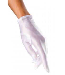 Satin-Handschuhe kurz weiß - AT12714