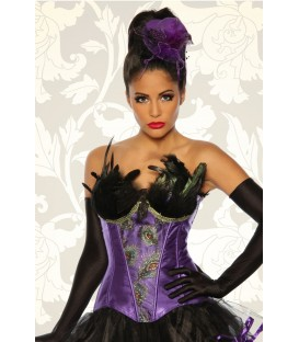 Burlesque-Corsage lila - AT12788