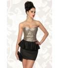 Vintage-Kleid mit Pailletten schwarz/gold - AT12857
