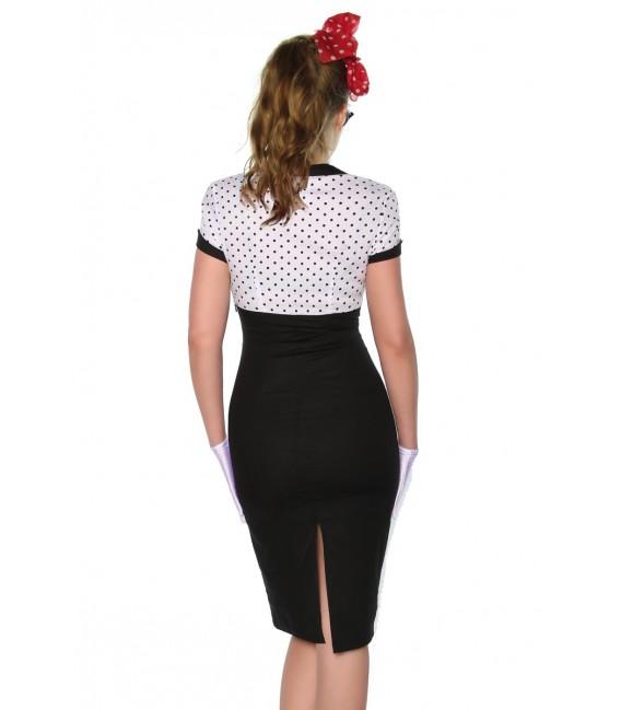 Vintage-Kleid im Pin-Up-Stil schwarz/weiß - AT12873