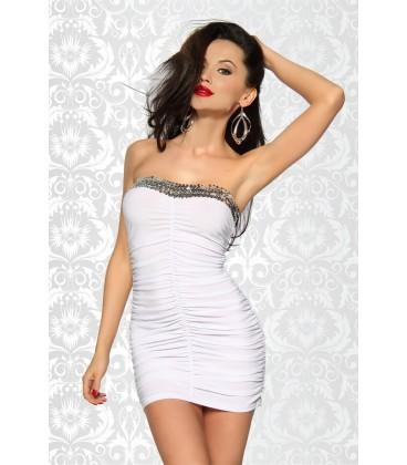 Minikleid mit Pailletten weiß - AT12883