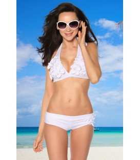 hochwertiger Bikini mit gepaddeten Cups weiß