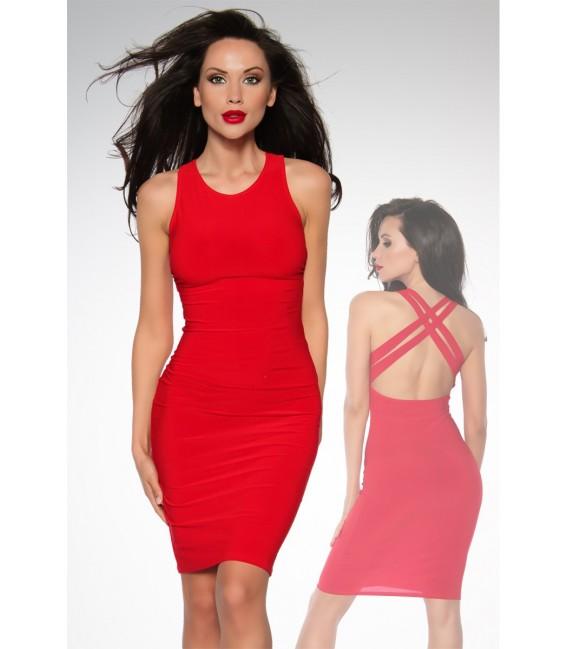 Cocktail-Kleid Stretchkleid in rot