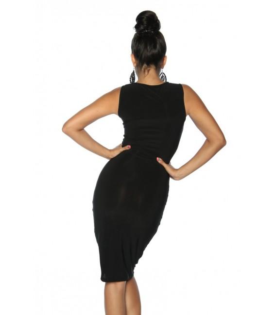 Partykleid mit Tülleinsätzen in schwarz