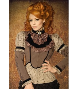 Steampunk-Bluse mit Jabot - AT13237