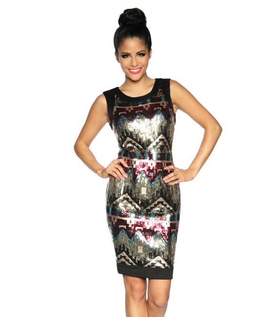 Kleid mit Pailletten - AT13300