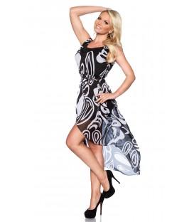 Chiffon-Kleid mit trendigem Alloverprint