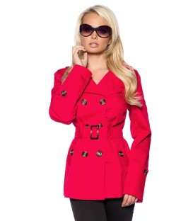 Trenchcoat kurz rot - AT13425