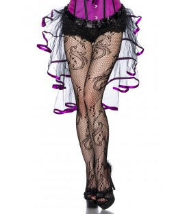 Burlesque-Volant-Rock schwarz/lila
