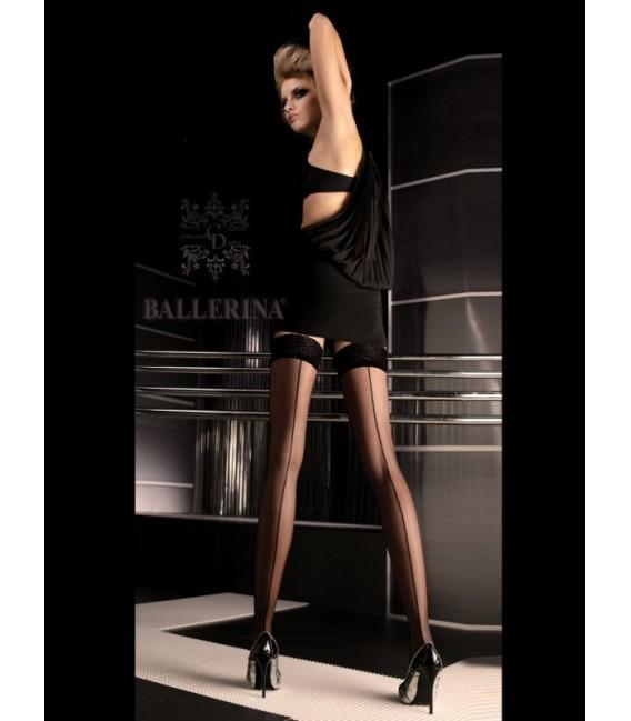 Stockings BA Art. 049 schwarz halterlose Strümpfe Großbild