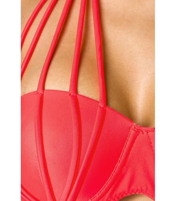 Push-Up-Bikini neonorange Großbild