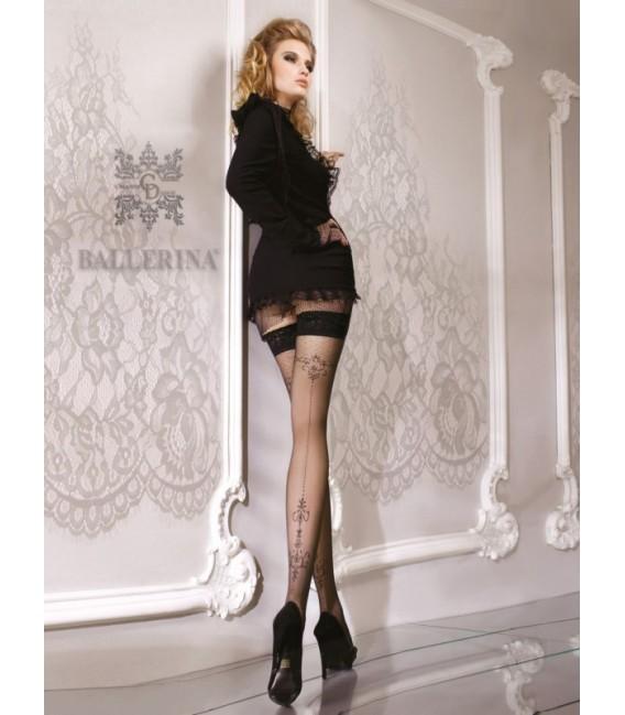 Stockings BA Art. 076 schwarz halterlose Strümpfe