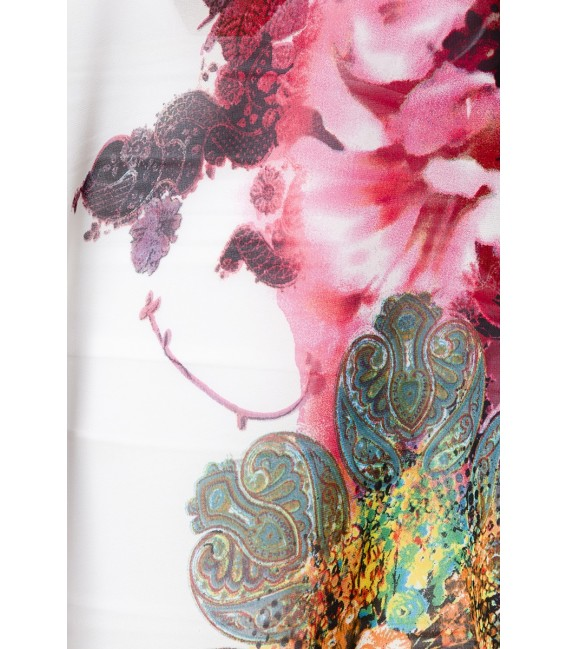 Tunika mit detaillreichen Blumenmuster