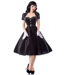 Rockabilly-Kleid schwarz-weiß, inklusive Bolero und Gürtel