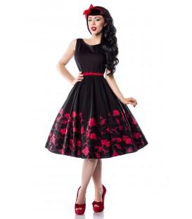 Rockabilly-Kleid mit Blumenmuster