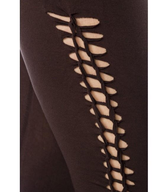 Capri-Leggings mit partiellem Flecht-Design - Bild 4 Großbild