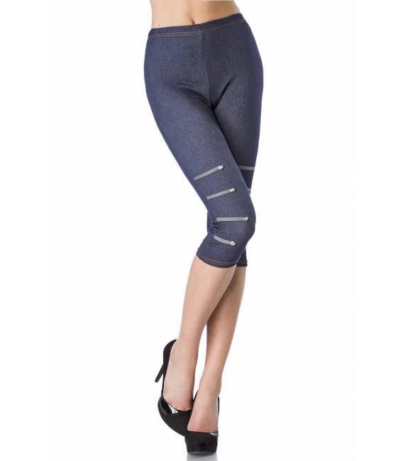 Großbild Capri-Leggings in Jeans-Optik - Bild 1