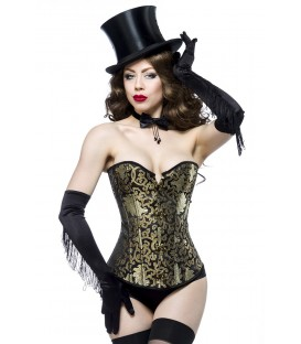 Burlesque-Brokat-Corsage - AT13989