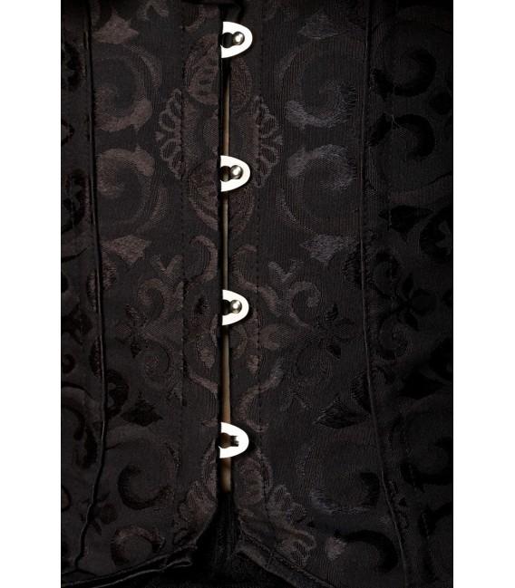 Jacquard-Unterbrust-Corsage mit Ornamentmuster